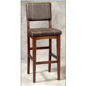 30'' Milano Bar Stool, 18'' W x 19-1/4'' D x 45'' H, Walnut Finish