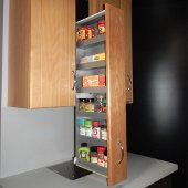 Pulldown Shelves Offer A New Way To Find Order In The Most Cluttered Of Kitchens Kitchensource Com