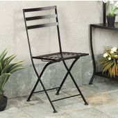 Metal Chair in Black Finish, Package of 2