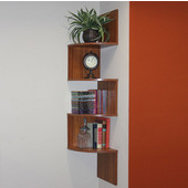 Hanging Corner Storage, Fruitwood