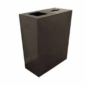 Geocube 44 Gallon Steel Constructed Dual Recycling Bin for Indoor Use