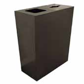 Geocube 50 Gallon Steel Constructed Dual Recycling Bin for Indoor Use