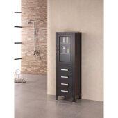 London 65'' H Linen Cabinet in Espresso, 18'' W x 18'' D x 65'' H