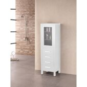 London 65'' H Linen Cabinet in Pure White, 18'' W x 18'' D x 65'' H