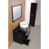 Malibu 70-1/4'' H Linen Cabinet in Espresso, 17'' W x 14'' D x 70-1/4'' H