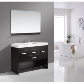 Citrus 48'' Single Sink Vanity Set with Wall Mirror in Espresso, 48'' W x 18'' D x 34'' H