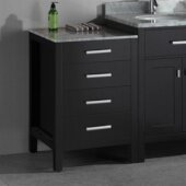 London 20'' Side Cabinet in Espresso, 20'' W x 22'' D x 32'' H