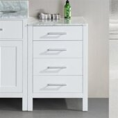 London 20'' Side Cabinet in White, 20'' W x 22'' D x 32'' H