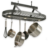 lighted pot racks u003e wall mounted