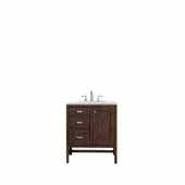 Addison 30'' W Single Vanity Set in Mid-Century Acacia Finish with Arctic Fall Solid Surface Top and One (1) Sink, 29.875'' W x 23-3/8'' D x 34-1/2'' H