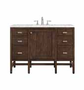 Addison 48'' W Single Vanity Set in Mid-Century Acacia Finish with Arctic Fall Solid Surface Top and One (1) Sink, 47.875'' W x 23-3/8'' D x 34-1/2'' H