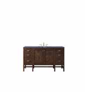 Addison 60'' W Single Vanity Set in Mid-Century Acacia Finish with Arctic Fall Solid Surface Top and One (1) Sink, 59.875'' W x 23-3/8'' D x 34-1/2'' H
