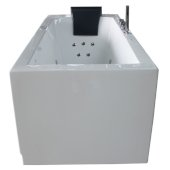 6 Feet Acrylic Rectangular Whirlpool Bathtub with Fixtures in White, Right Drain, 70-1/2'' W x 31-1/2'' D x 25-1/4'' H