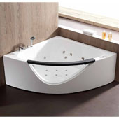 60'' Corner Clear Triangular Rounded Acrylic Whirlpool Lighted Bathtub with Stereo and Bluetooth, 60-13/20'' W x 60-13/20'' D x 23-13/20'' H