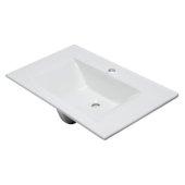 Ceramic 32'' x 19'' Rectangular Drop In Sink in White, 31-1/2'' W x 18-7/8'' D x 7-1/2'' H