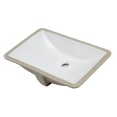 Ceramic 22'' x 15'' Undermount Rectangular Bathroom Sink in White, 22'' W x 15'' D x 7-1/8'' H