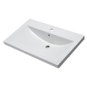 Ceramic 32'' x 19'' Rectangular Drop In Sink in White, 31-1/2'' W x 19-1/8'' D x 7-7/8'' H