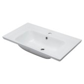 Ceramic 32'' x 19'' Rectangular Drop In Sink in White, 31-1/2'' W x 18-7/8'' D x 8-1/8'' H