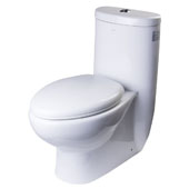 Dual Flush One Piece High Efficiency Tall Ceramic Toilet in White, 16'' W x 28-2/5'' D x 30-3/4'' H