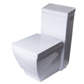 Single Flush One Piece High Efficiency Ceramic Toilet in White, 15'' W x 27-3/4'' D x 31-3/4'' H
