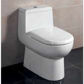 Dual Flush High Efficiency Ceramic Toilet in White, 15-3/20'' W x 26-13/20'' D x 26-3/4'' H