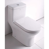 Dual Flush High Efficiency Eco-Friendly Toilet in White, 14-3/20'' W x 26-3/4'' D x 27-3/20'' H
