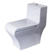 Dual Flush High Efficiency Ceramic Toilet in White, 15-3/20'' W x 27-2/5'' D x 29-2/5'' H
