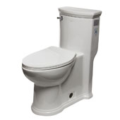 ADA Compliant Single Flush Toilet in White, 15'' W x 28-1/2'' D x 31'' H