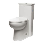 ADA Compliant Siphonic Single Flush Toilet in White, 14-1/2'' W x 28-1/2'' D x 30-1/2'' H