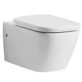 Modern Ceramic Wall Mounted Toilet in White, 14-1/8'' W x 22'' D x 13-3/4'' H