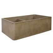 Farmhouse Double Bowl Kitchen Sink In Earth, 33''W X 21''D X 10-1/4''H