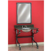 Empire Wrought Iron Bathroom Vanity Console 103, Overall Dimensions: 39-1/2'' W x 21-1/2'' D x 33-3/4'' H