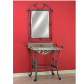 Empire Wrought Iron Console for Bathroom Vanity 105, Overall Dimensions: 38'' W x 21-1/2'' D x 33-3/4'' H