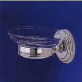 Empire Bentley Polished Chrome Soap Dish and Holder