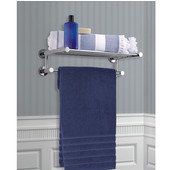Brentwood Collection 400 Series Hotel Shelf w/ Towel Bar in Polished Chrome, 17-45/64'' W x 10-1/2'' D x 3-45/64'' H