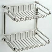 Empire Tivoli Polished 2-Tier Shower Rack 7.9'' W x 5.6'' D x 8.6'' H