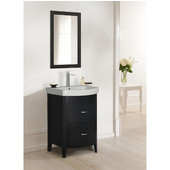 Empire Arch Vanity Base with Two Drawers, Black, 22-3/8''W x 17-3/16''D x 31-7/8''H