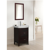 Empire Arch Vanity Base with Two Drawers, Dark Cherry, 22-3/8''W x 17-3/16''D x 31-7/8''H