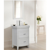 Empire Arch Vanity Base with Two Drawers, White, 22-3/8''W x 17-3/16''D x 31-7/8''H