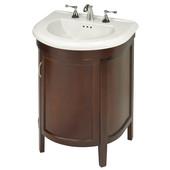 Empire 23'' Alexa One Door Semi-Round Vanity For Bolero Sink, Spice Cherry