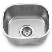Empire - Bar Sink, 12-3/4''W x 15''D x 7''H, Stainless Steel