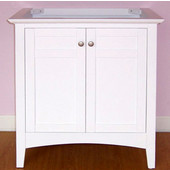 Empire Biltmore 30'' Vanity, 30'' W x 21-1/2'' D x 33'' H, White