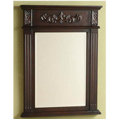 Empire - Sienna Bathroom Mirror, 22'' W x 28'' H, Dark Cherry