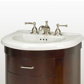 Empire Bolero 23'' Ceramic Sink, 3 Hole, White
