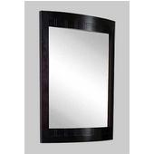 Empire Malibu Collection Rectangular Hardwood Framed Mirror in Dark Mahogany 24''
