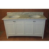Empire Biltmore 60'' Vanity, 60'' W x 21 1/2'' D x 33'' H, White