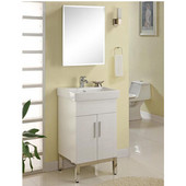 Metropolitan 21'' Vanity for Tribeca Ceramic Sinks in White Matte with Polished Frame & Hardware, 2 Doors, Mutilple Finishes Available