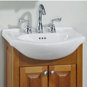 Empire Capri 22'' Ceramic Bathroom Vanity Top with 1 Hole in White, Available in Multiple Options