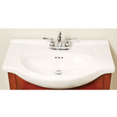 Empire Capri 26'' Ceramic Bathroom Vanity Top with 1 hole in White, Available in Multiple Options