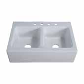 Empire 33'' Double Cast Iron Farmhouse Kitchen Sink